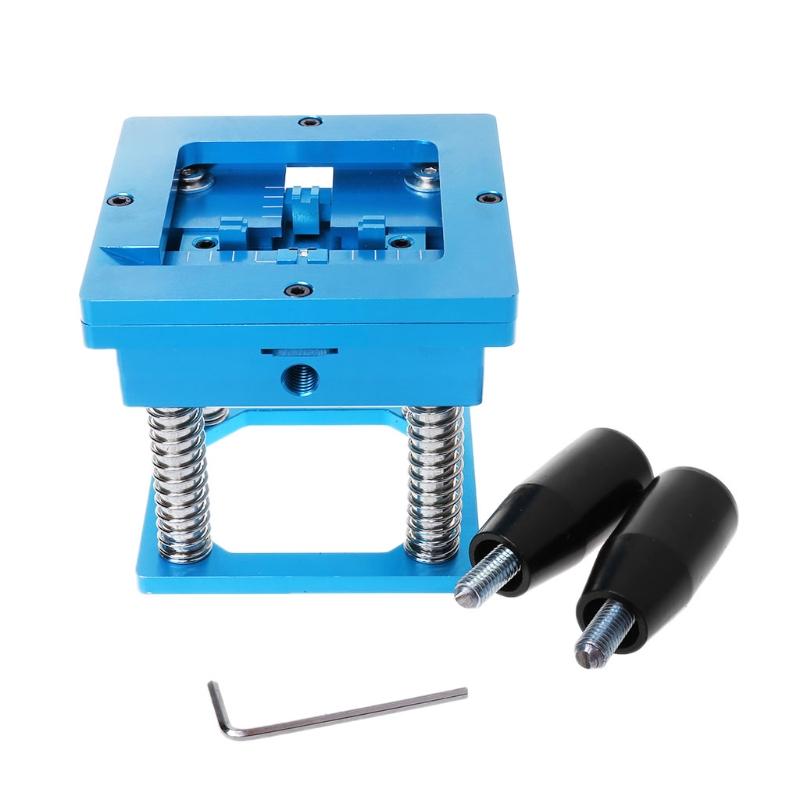 Blue BGA Reballing Station With Handle For 90mm x 90mm Template Holder Jig цена