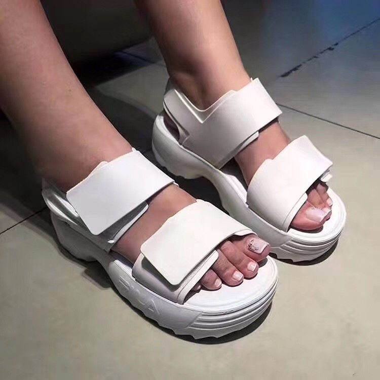 Melissa Open toed Women Sport Sandals Wedge Hollow Out Women Sandals Outdoor Cool Platform Shoes Women