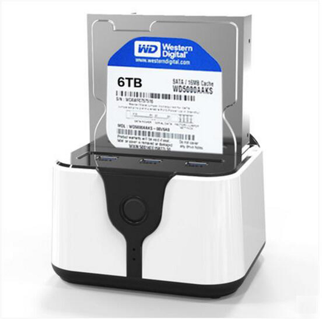 2.5 ''de 3.5 pulgadas sata hdd case 3.0 duro externo usb recinto de disco multifuncional HDD docking station con 3 puerto USB HD03HUB