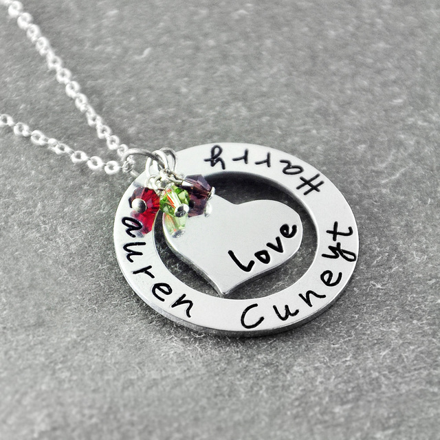 Personalized family name necklace custom family necklace grandma personalized family name necklace custom family necklace grandma mommy necklace mother day gift aloadofball Gallery