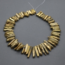 Фотография Wholsesale Titanium Gold Crystal Quartz Top Drilled Polished Point Pendants,Rock Quartz Crystal Women Fine Jewelry Making Beads