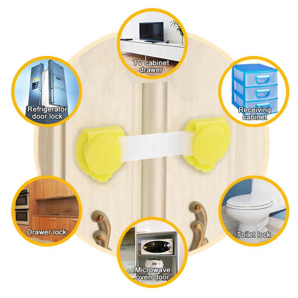 1 unidad para el cuidado del bebé, cerraduras de seguridad, cajones para puerta, refrigerador, bloqueadores de inodoro, cerradura de protección de plástico para niños, caliente