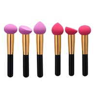 3pcs Makeup Sponges Liquid Cream Foundation Sponge Brush Cosmetic Flawless Powder Smooth Shaped Puff Brush
