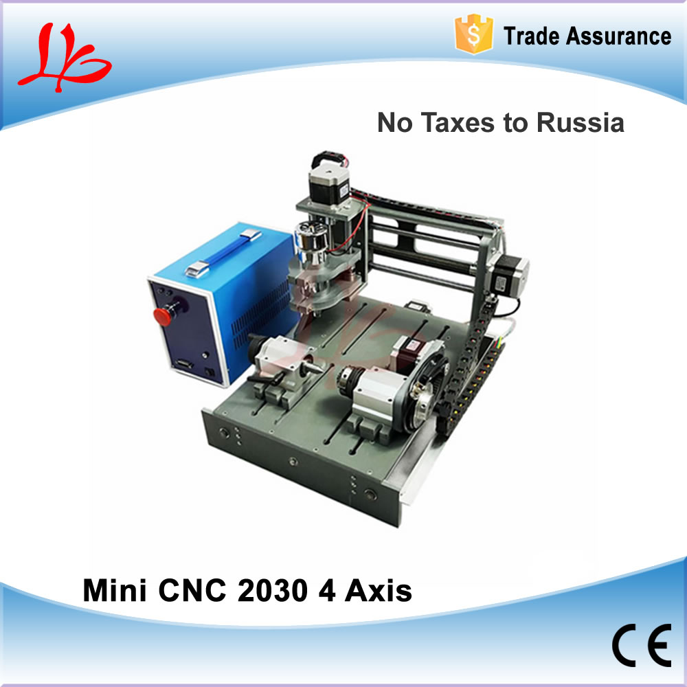 No Tax to Russia & Ukraine, 4 axis Woodworking CNC 2030 CNC Wood Router Engraver with Parallel & USB port 2 in 1 CNC Control Box cnc router wood milling machine cnc 3040z vfd800w 3axis usb for wood working with ball screw