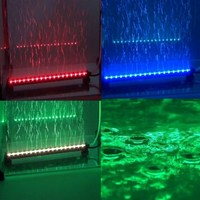 Remote RGB Colorful Air Bubble LED Aquarium Light Fish Tank Coral Lamp Tube Hot Underwater Light