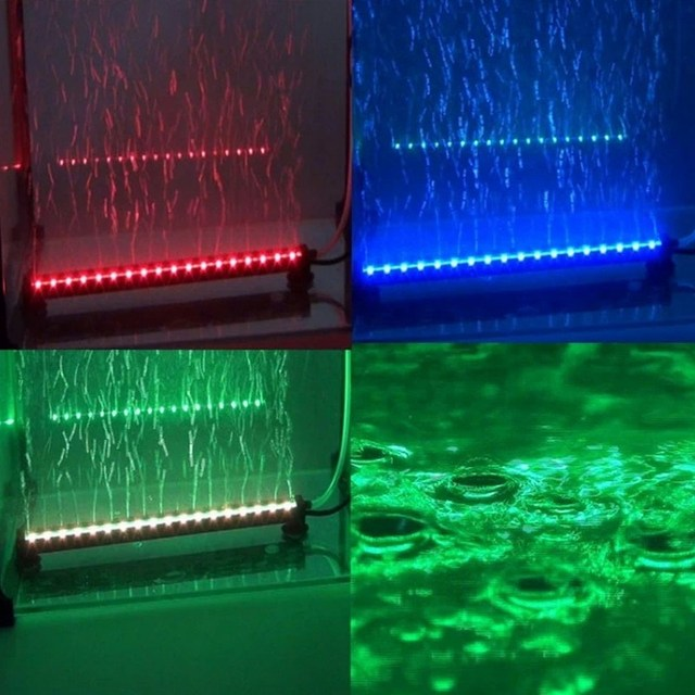 Remote Submersible Colorful Air Bubble Aquarium Light Fish Tank Coral Lamp Tube Hot Underwater For