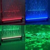 Uzaktan Dalgıç Renkli Hava Kabarcık Akvaryum Işık Fish Tank Mercan Lamba Tüp Sıcak balık için sualtı ışık LED Kabarcık Işık