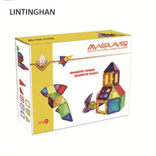 New magnetic film color window building blocks to put together transparent block construction piece toy