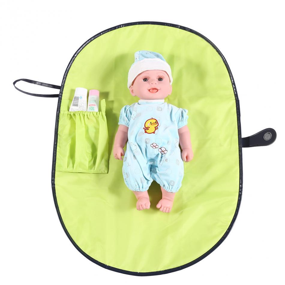 Для малышей Портативный пеленания Водонепроницаемый пеленания Коврики Простыни путешествия стол складной подгузник сумка пеленки Средст... ...