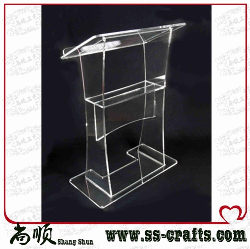 Free Shipping Acrylic Lectern,acrylic Podium,transparent Acrylic Lectern Stand Plexiglass