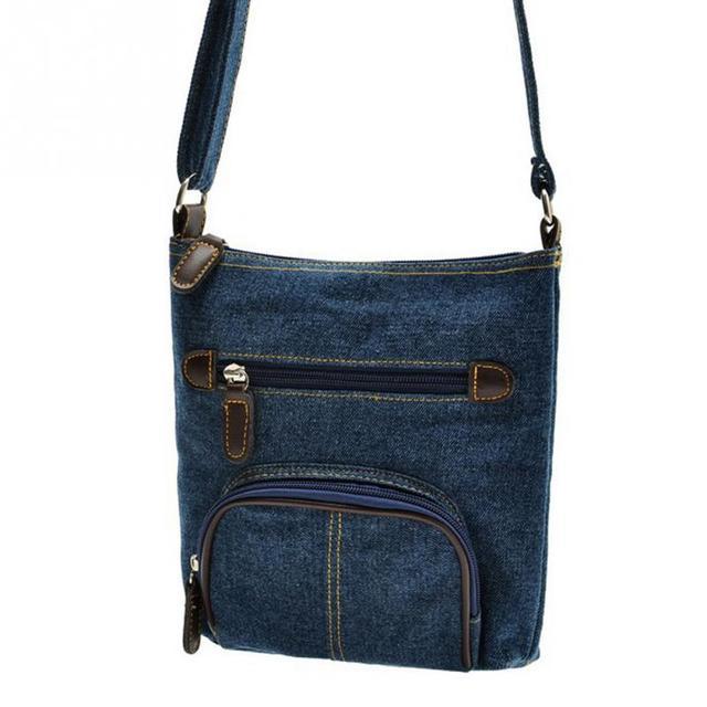 Retro Denim Crossbody Bag Women