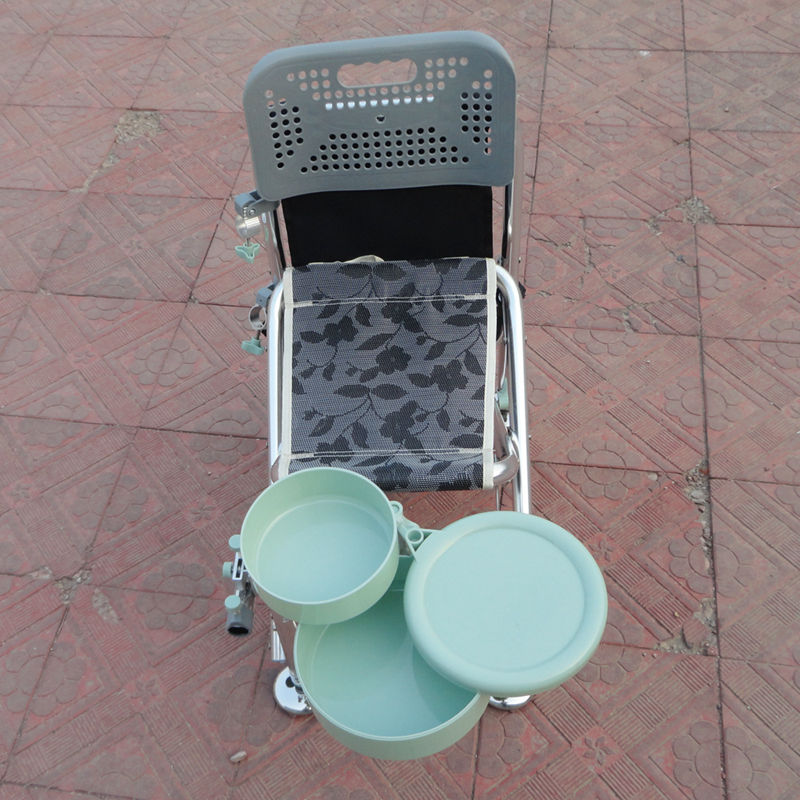 Recreational fishing chair fishing chair folding armrests fishing stool with bait tray and backpack comfortable 30*