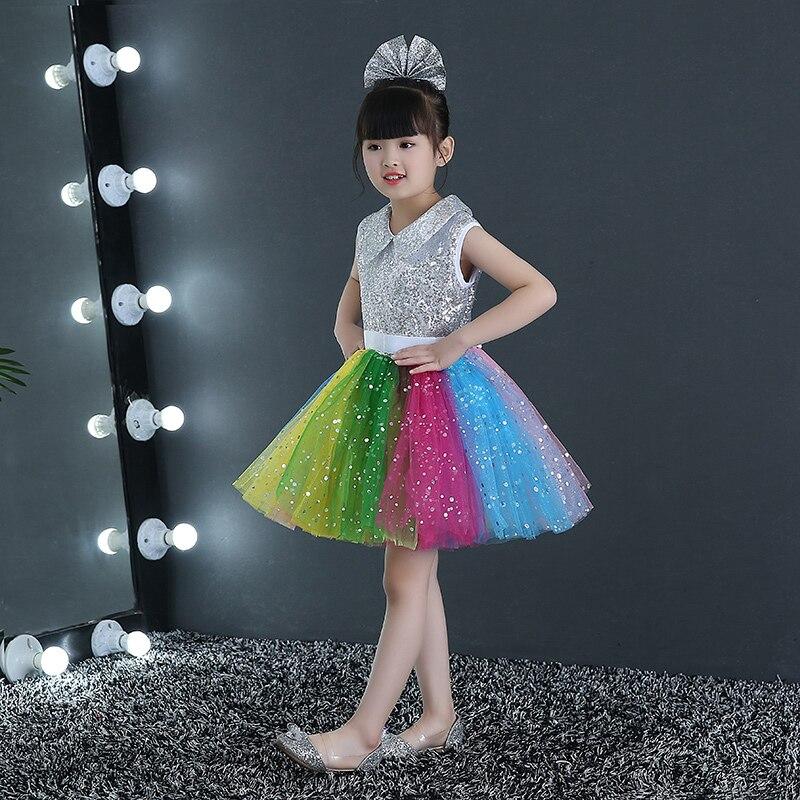 b70eea6af 2018 Childrens fancy dress modern salsa Sequins dancing dress of girl kids  dance dress for girls competition dance costume wear-in Ballet from Novelty  ...