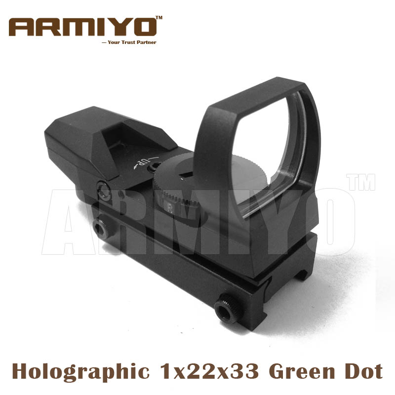 Armiyo Tactical 4 Mode Holographic 1x22x33 Red Green Vision Sight Airsoft Optics Scope For Hunting Shooting Accessories