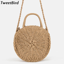 d7ef5653cdaf TweetBird 2018 New Women Straw Bag Fashion Female Handbag Woman Crossbody  Shoulder Bag Handmade Woven Round