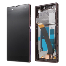 Display For SONY Xperia Z LCD Touch Screen Digitizer With Frame For SONY Xperia Z LCD L36H C6603 C6602 free shipping 100% new lcd display screen for sony xperia sp m35h m35 m35i c5302 c5303 with digitizer free shipping