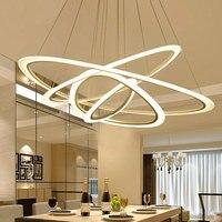Novo controle remoto led lustre de acrílico luzes para sala estar quarto casa lustre conduziu a lâmpada do teto luminárias