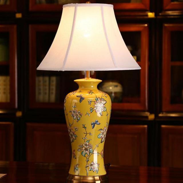 Chinese  Carving Ceramic E27 LED Table Lamp For Living Room, Bedroom Novelty wedding lights AC80-265V 1113