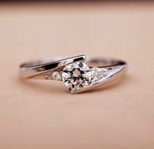MEGREZEN Beautiful Wedding Rings For Women Silver Plated Jewelry With Cubic Zirconia Stones Bijouterie Anel Feminino YR023-4