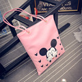 Fall fashion new Mickey handbags High quality PU leather Women bag  shopping shoulder bag Female bag Free Shipping