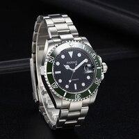 40Mm Mens Automatische Horloge Tritium Mechanische Horloges Keramische Duiken 100M Staal Mekanik Erkek Kol Saati Reloj Automatico Parnis
