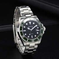 40mm Herren Automatische Uhr Tritium Mechanische Uhren Keramik Tauchen 100m Stahl mekanik erkek kol saati reloj automatico Parnis