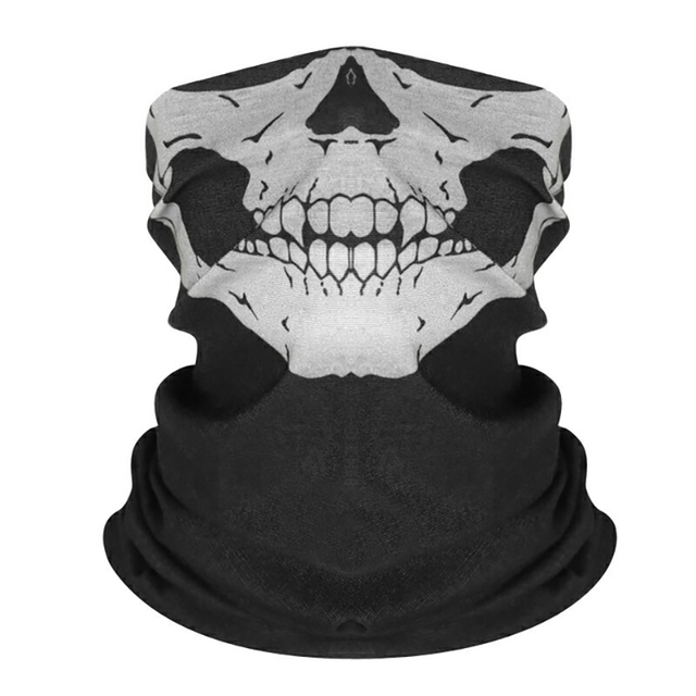 Vexverm Motorcycle  Face Mask Face Scarf Shield SKULL Ghost Face Windproof Mask Sun Mask Balaclava Party Bicycle Bike Masks 2