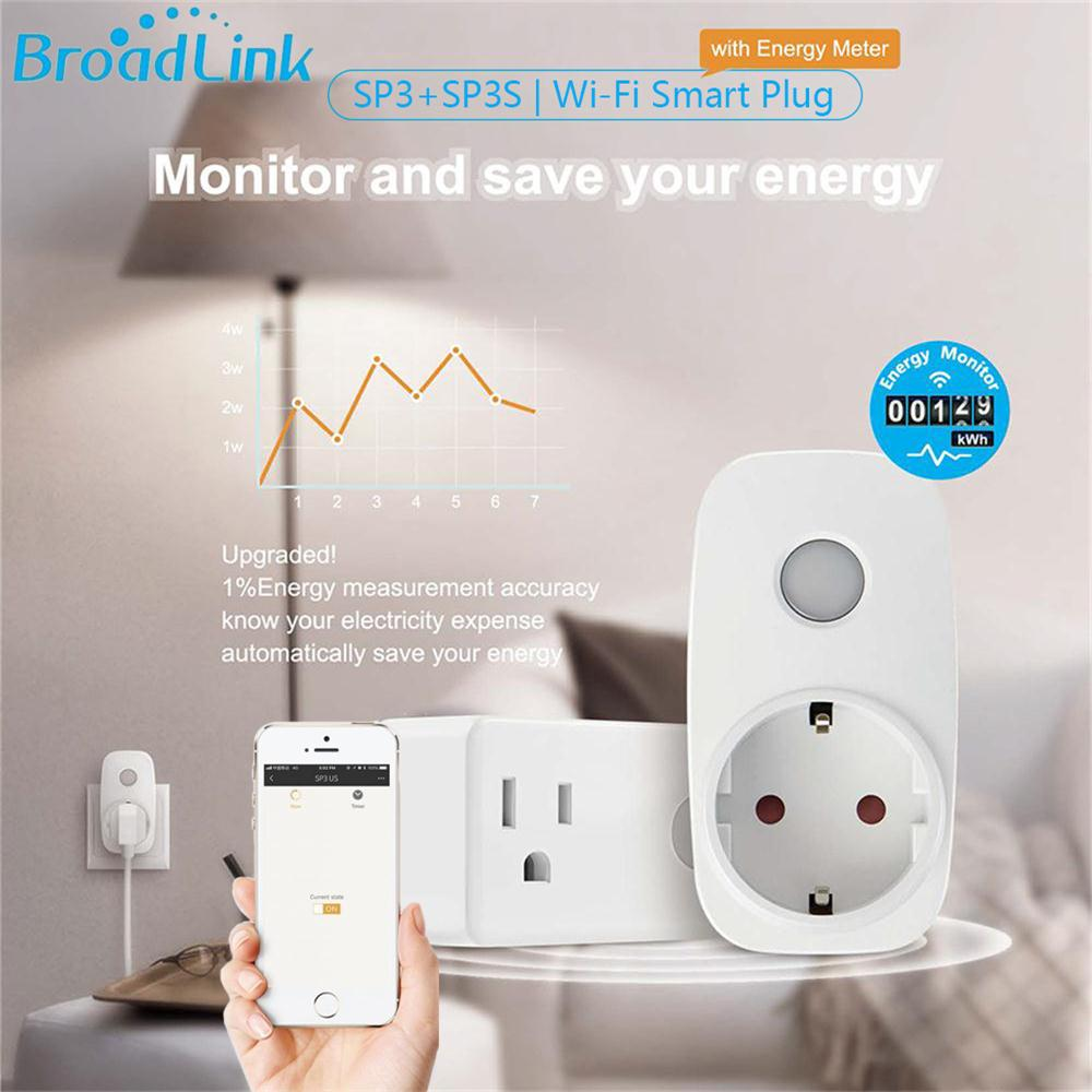 Broadlink WiFi Switch Work for ALexa Google Home APP Smart Socket Wireless Outlet Remote Control Timer EU US Standard Adapter