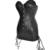 Sexy Negro de Cuero de Imitación Corsé y Falda Set-Vasco Top Outfit STEAMPUNK