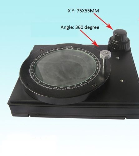 360 Degree Rotatable Mechanical Stage X-Y Movable Stage Microscope accessories  цены