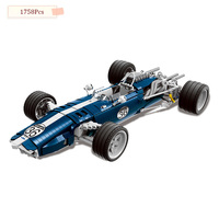 XINGBAO XB03022 Charm Blue Sonic Racing Creative Technology Sports Car Assembled Building Blocks Model Gift Toys D3