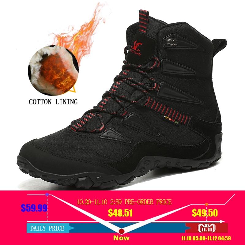 2018 new winter men outdoor sport shoes anti slip sport shoes men cotton lining hiking shoes for men warm trekking shoes women цена