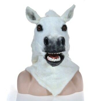 Factory Wholesale White Horse Mask Moving Mouth Mask and Animal Mask
