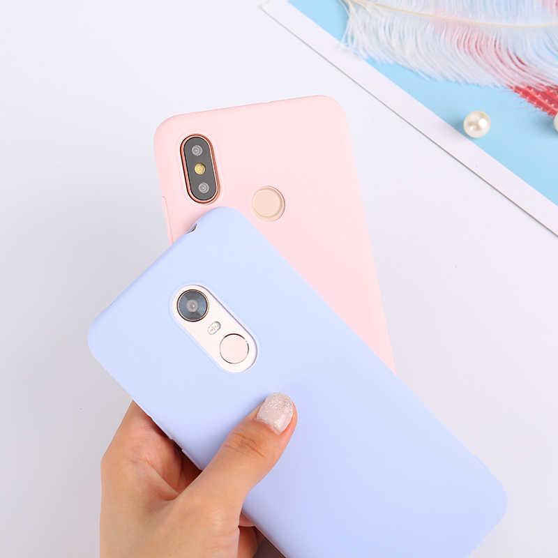 Цвет силиконовый чехол из ТПУ для Xiaomi Redmi Note 4X5 Pro Red mi 6 Pro 6A 5 Plus матовый чехол для спортивной камеры Xiao mi 8 SE mi A2 Lite A1