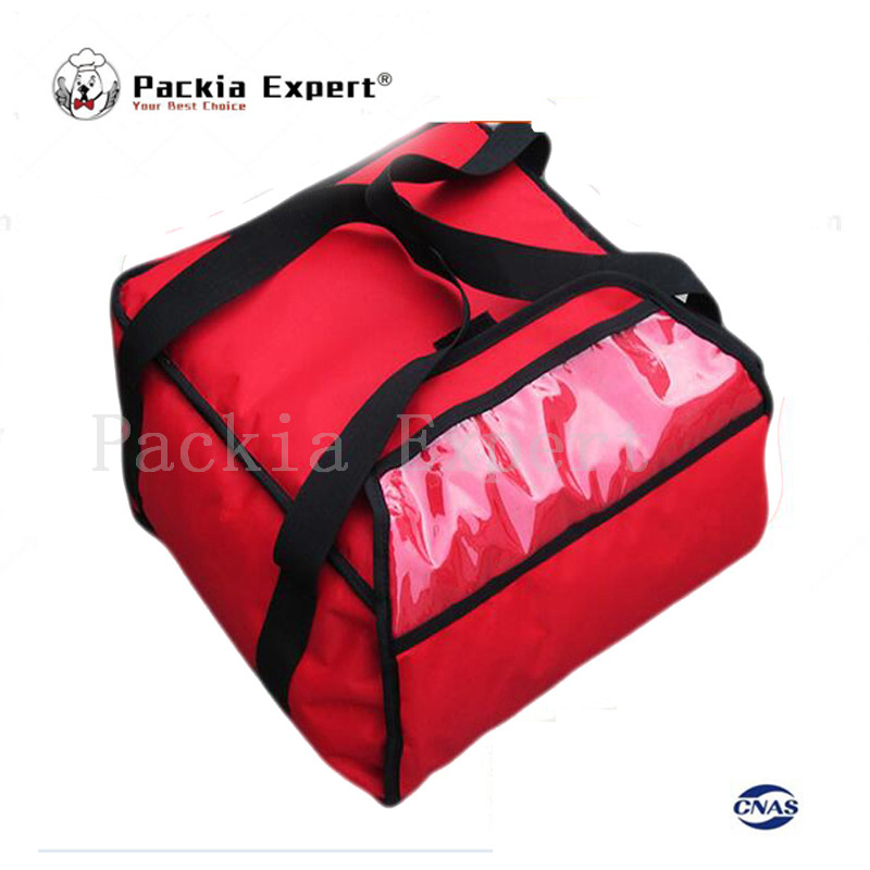 2018 13inch pizza delivery bag with heat generating sheet thermal insulation bag pizza delivery bag-red color ...