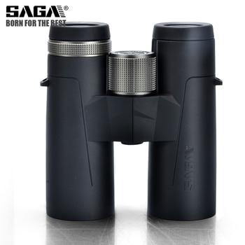 Saga High Definition Binoculars 8X42 10X42 ED Lens Camping Hunting Scopes Large Eyepiece Telescope Professional Binocular Hd 2