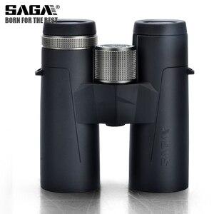 Image 2 - Saga бинокль высокой четкости 8X42 10X42 ED объектив кемпинг охотничьи области большой окуляр телескоп Профессиональный бинокль Hd