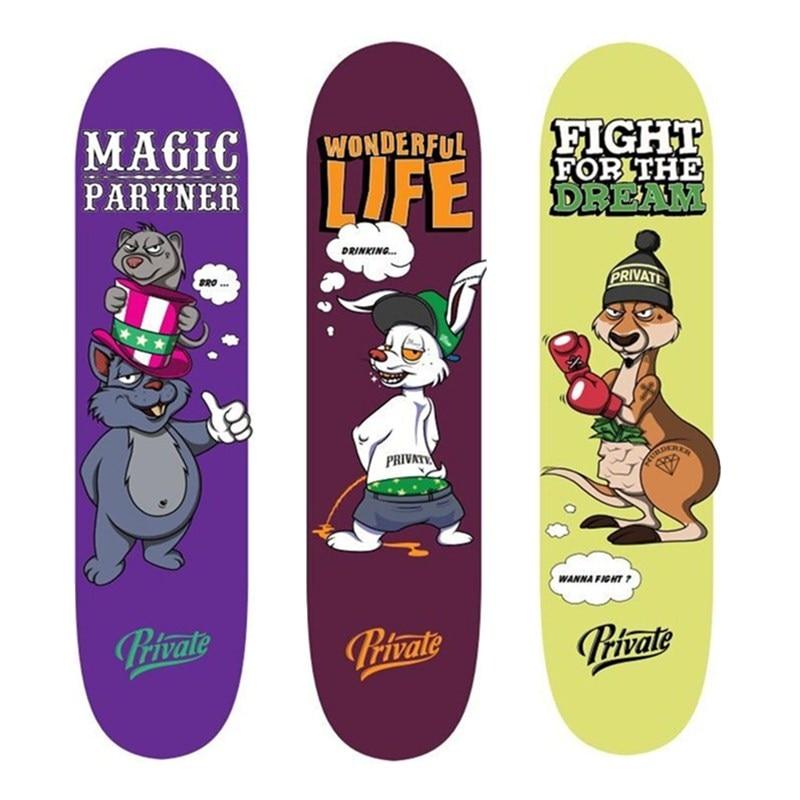 SK8ER Privé Nouveau plateaux de skateboard Érable Canadien de planche à roulettes en bois 8
