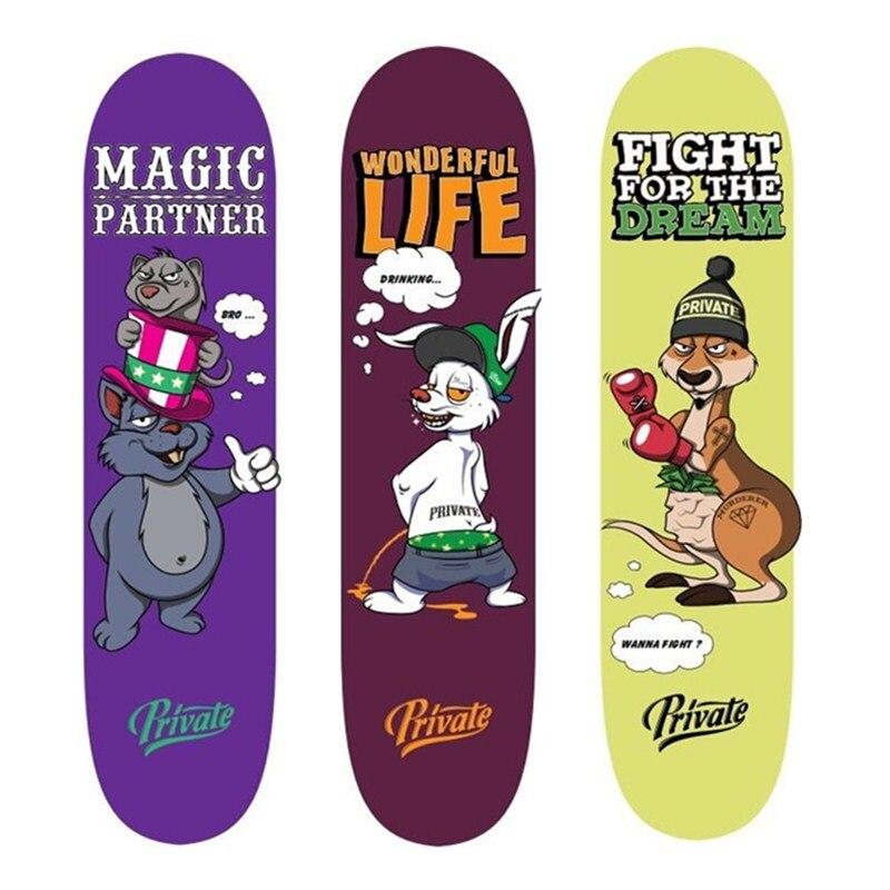 SK8ER Private Canadian Maple Skateboarding Decks 8