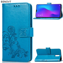 For OPPO R17 Case Soft Silicone Luxury Leather Card Holder Anti-konck Cover Phone Bag BSNOVT