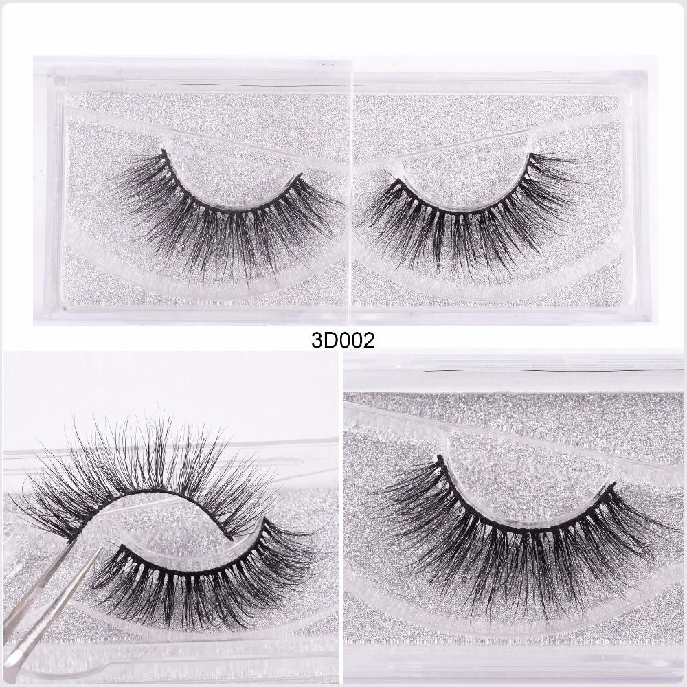 bf87cc49462 WZSQJN Eyelashes 3D Mink Eyelashes Long Lasting Mink Lashes Natural ...