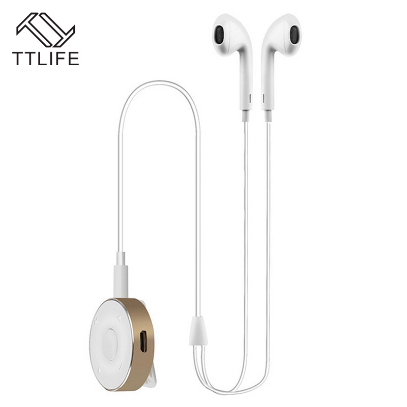 TTLIFE Bluetooth 4.1 Earphone Wireless Noise Reduction Headphones HiFi Stereo Earbuds with Mic Metal Bluetooth Receiver Box ttlife bluetooth earphone