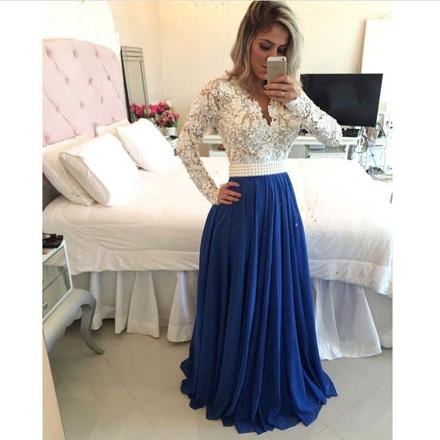 White and blue prom dresses online shopping-the world largest ...