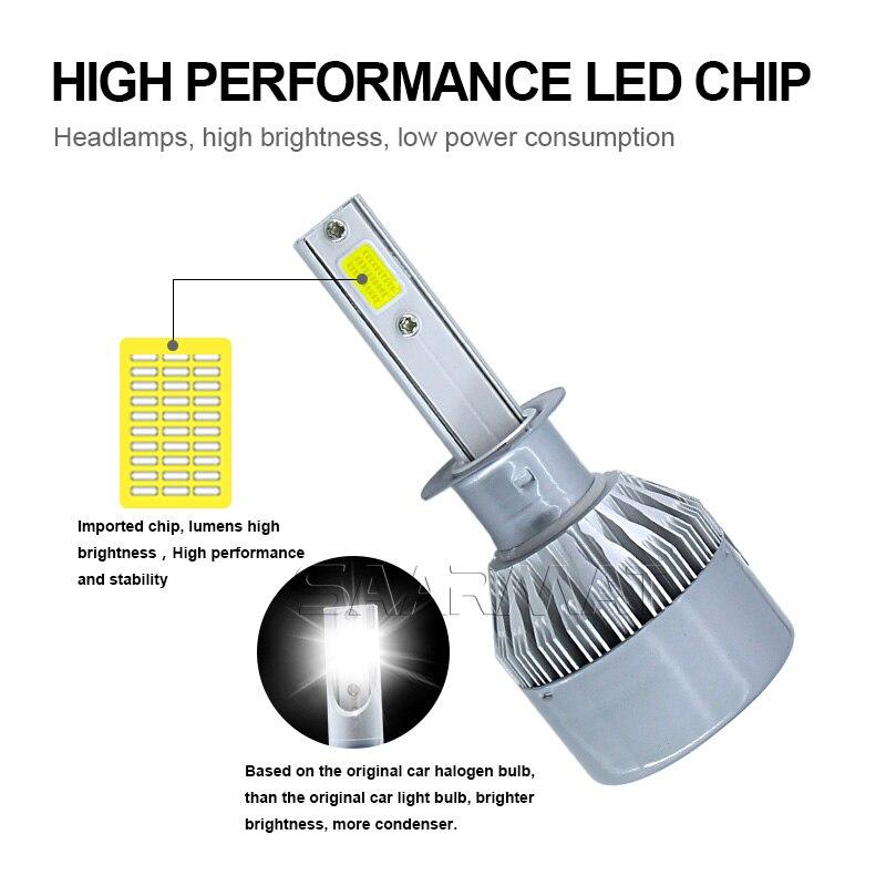 1Sæt m / COB Chips H8 H9 H11 H16 (JP) 9600LM Billygter Kit Pærer - Billygter - Foto 3