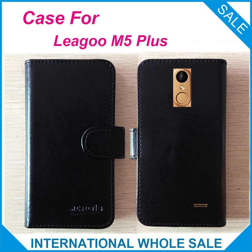 熱い! 2017 leagoo m5プラスcase、6色の高品質レザー独占case用leagoo m5プラスカバー電話バッグ追跡