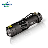 Lanterna Rechargeable Flashlight CREE Q5 2000lm LED Torch Zoomable Linternas LED Flashlight Tactical Use AA Or