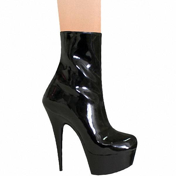 ФОТО Classics Black 15cm Platforms Boots High Heel Shoes, Pole Dance / Model Shoes, 6 Inch Ankle Boots, Sexy Bootie