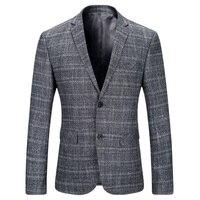 2017 бренд Для мужчин Блейзер высокого класса Бизнес Повседневное мужской костюм куртка две кнопки Для мужчин Блейзер весна тонкий Для Мужчи