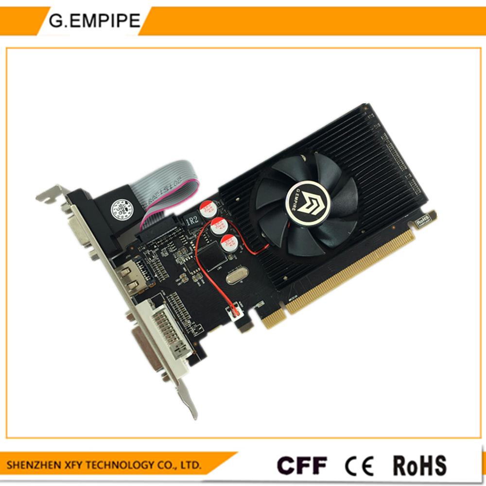 Prix pour 100% new original carte graphique pci express HD7450 2 GB DDR3 64bit LP placa de vidéo carte PC pour ATI radeon livraison gratuite