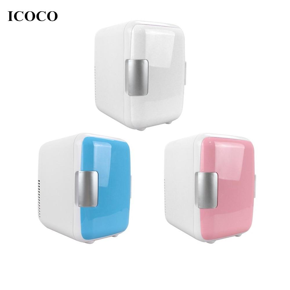 Compact Size 4L Car Refrigerators Ultra Quiet Low Noise Car Mini Refrigerators Freezer Cooling Heating Box Fridge  Home Car Use